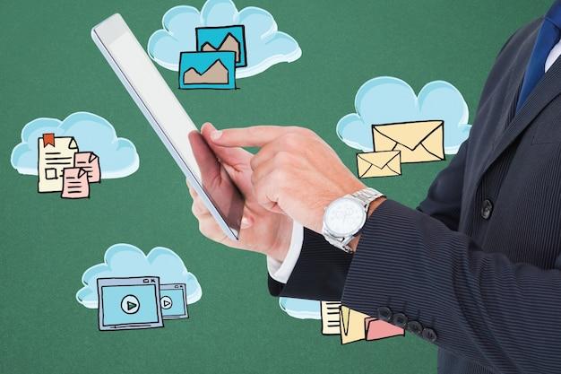 Hombre de negocios con una tablet