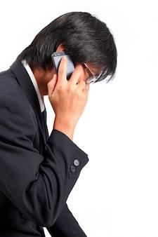 Hombre de negocios, utilizar, smartphone