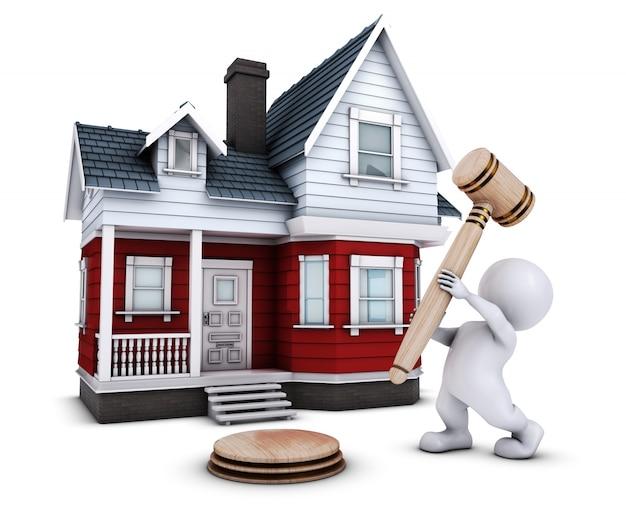 Hombre a punto de vender una casa
