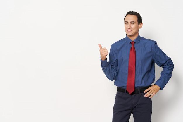 Hombre traje de negocios emociones