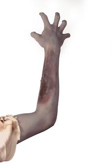 Hombre zombie mano