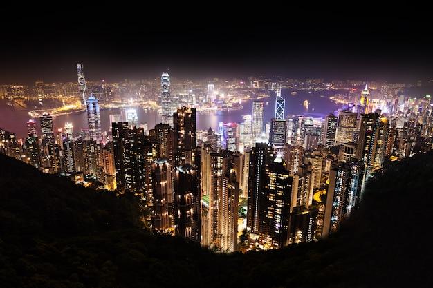 Hong kong en la noche