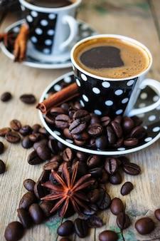 Hora del café con frijoles asados