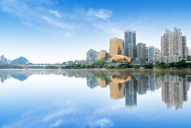 Horizonte de la ciudad de china guangxi liuzhou