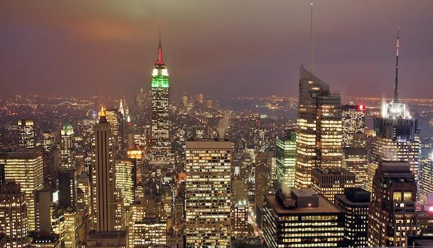 Horizonte de la ciudad de nueva york