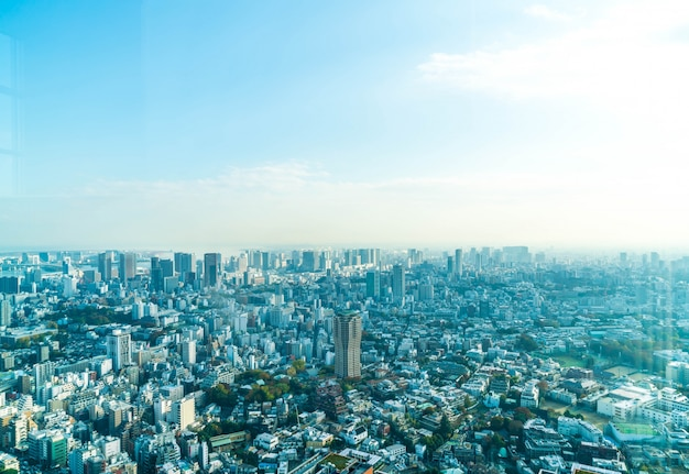 Horizonte de la ciudad de tokio con la torre de tokio