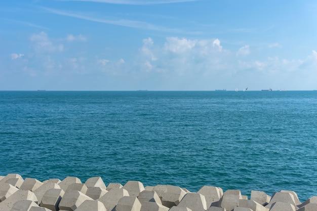 Horizonte, isla, al aire libre, bali, vista, claro