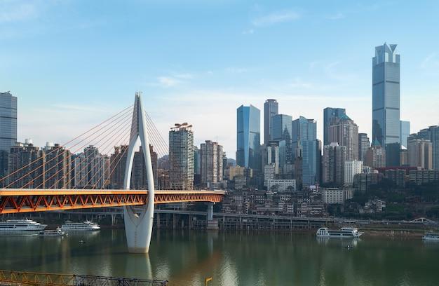 Horizonte de la metrópolis moderna, chongqing, china