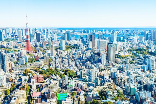 Horizonte del paisaje urbano de tokio