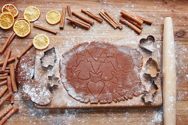 Hornear pan de jengibre navideño, galletas navideñas caseras
