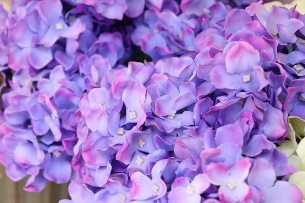 Hortensias bonitas flores artificiales