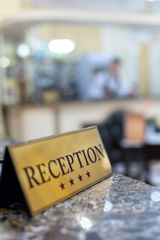 Hotel de recepción borrosa