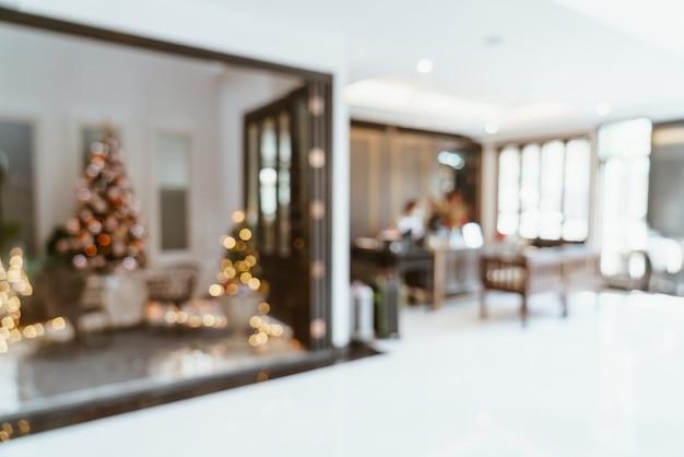 Hotel de vestíbulo de desenfoque abstracto para el fondo