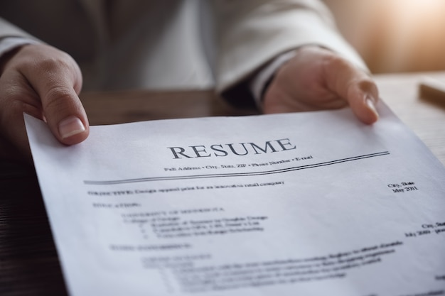 Hr auditoría reanudar el documento del solicitante y entrevista al solicitante para la selección de recursos humanos a la empresa.