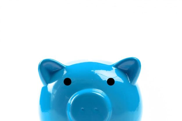 Hucha azul o caja de dinero