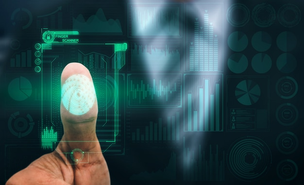 Huella digital biométrica tecnología de escaneo digital