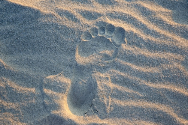 Huellas humanas en la arena