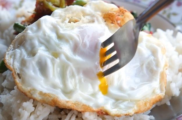Huevo con arroz