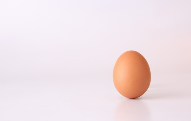 Huevo de gallina aislado sobre fondo blanco
