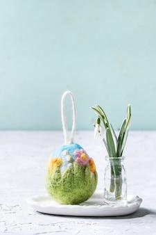 Huevo de pascua de fieltro