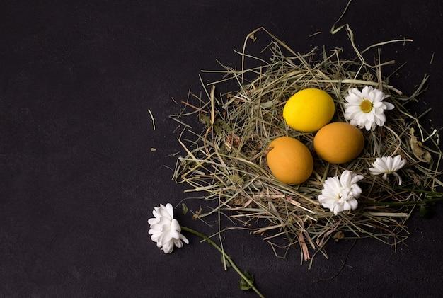 Huevos de pascua amarillo