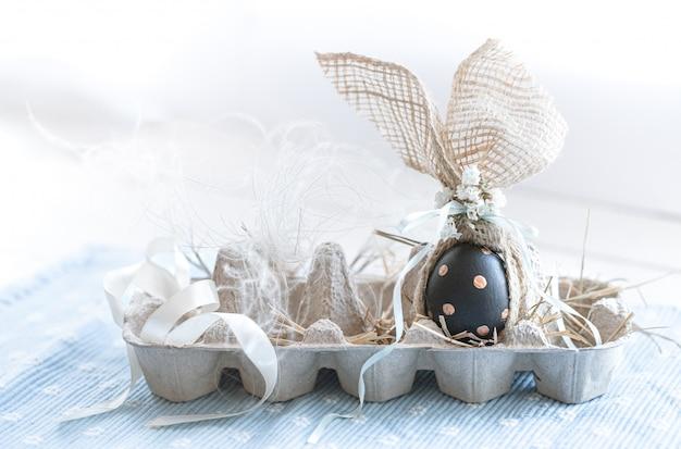 Huevos de pascua decorados en negro