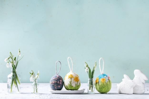 Huevos de pascua de fieltro