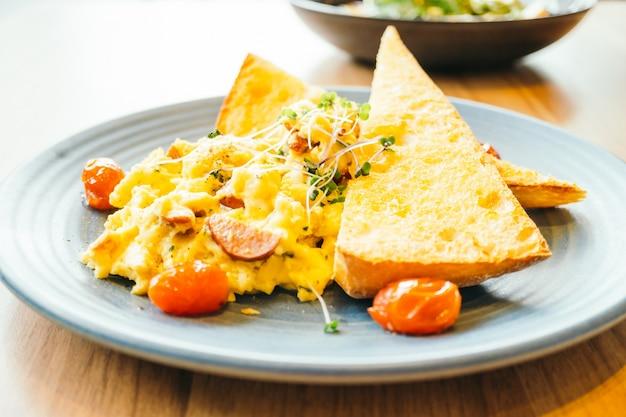 Huevos revueltos con vegetales