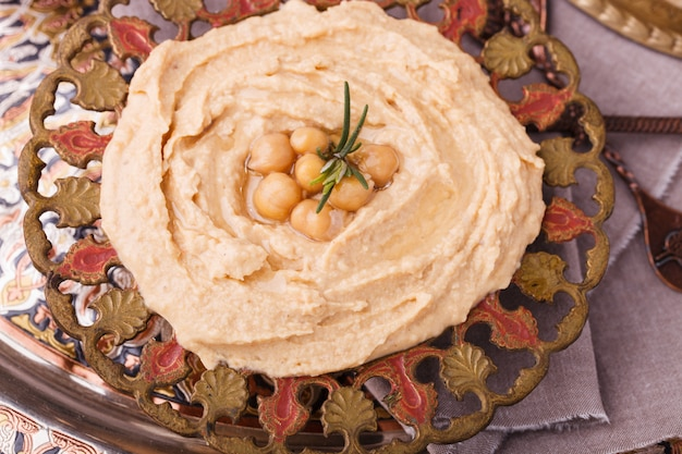 Hummus, salsa de garbanzos