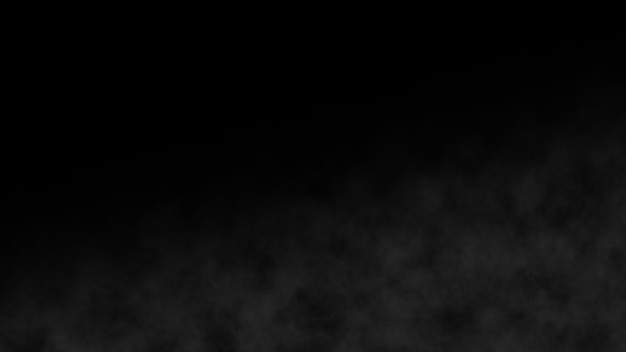 Humo atmosférico lentamente blanco elemento de efecto niebla. fondo de neblina cinematográfica. realista mejor resumen nube de humo cámara lenta en el fondo. ascendente vapor vapor sobre negro. spooky magic halloween.