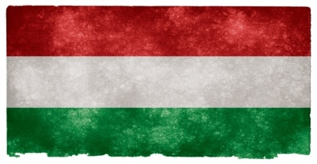 Hungría grunge bandera