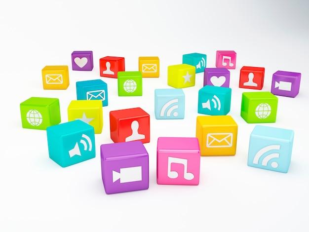 Icono de la aplicación de teléfono móvil. concepto de software