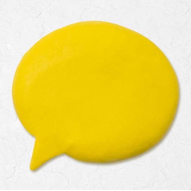 Icono de arcilla de burbujas de discurso lindo gráfico de artesanía creativa de marketing de bricolaje