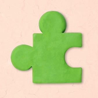 Icono de arcilla de rompecabezas lindo gráfico de artesanía creativa de marketing de bricolaje