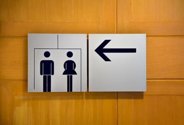 Icono de aseos, signos de baños públicos