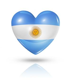 Icono de bandera de corazón de argentina amor
