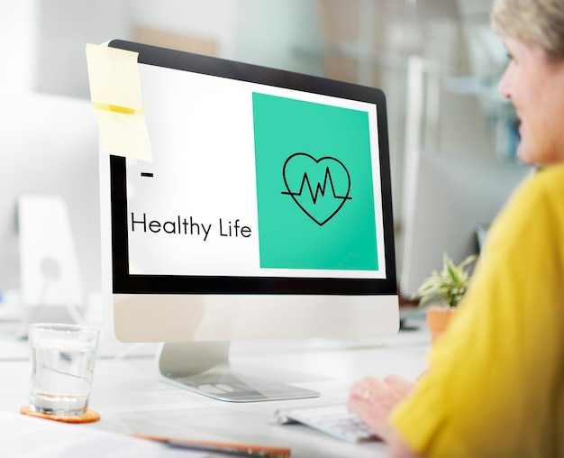 Icono de bienestar de vida saludable del corazón