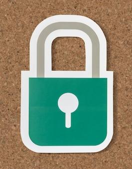 Icono de bloqueo de seguridad de privacidad