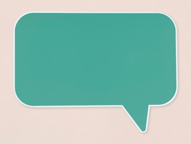 Icono de burbuja de discurso verde aislado