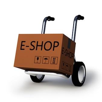 Icono de carrito de e-shop web