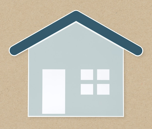 Icono de la casa azul aislado
