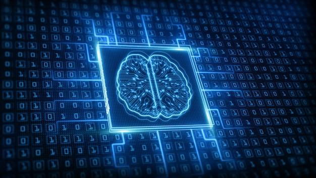 Icono de cerebro de inteligencia artificial