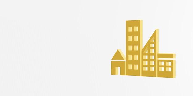Icono de ciudades y comunidades sostenibles 3d rendering