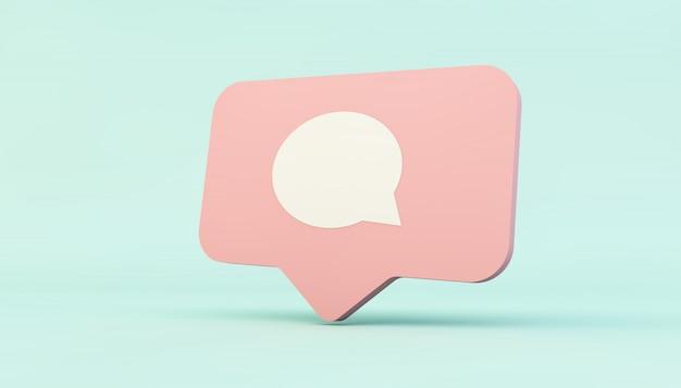 Icono de comentario en redes sociales