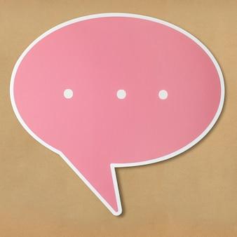 Icono de corte de burbuja de discurso