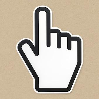 Icono de cursor de flecha de computadora aislado
