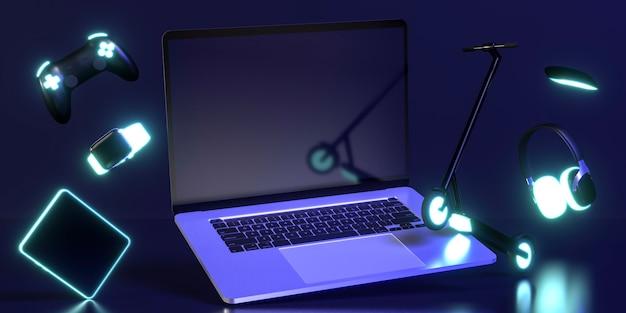 Icono de cyber monday con dispositivos