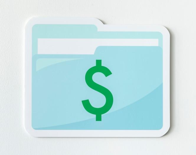 Icono de documento de gestión financiera empresarial