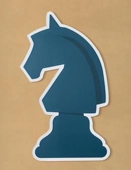 El icono de estrategia de ajedrez de caballero