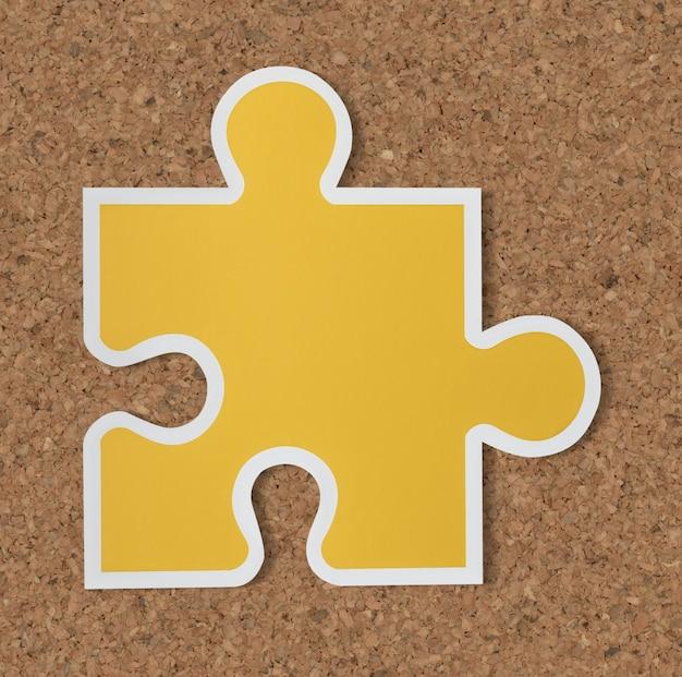Icono de estrategia de pieza de rompecabezas